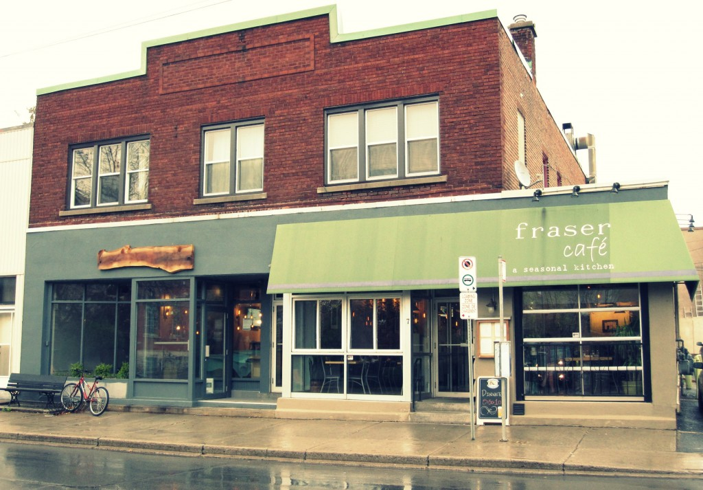 Fraser Cafe, a short walk away from Rockcliffe park