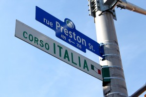 Preston Street / Corso Italia is the main thoroughfare of Little Italy, and is where most events take place