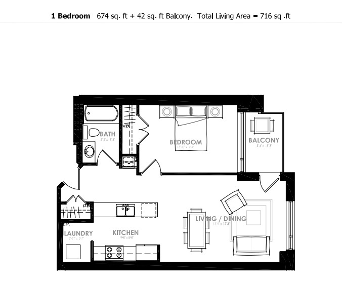 A South Facing One Bedroom