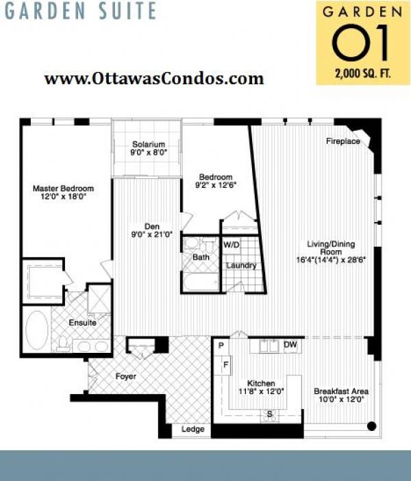 Garden Suite Floor Plan