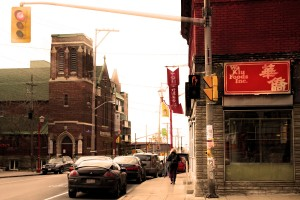 A look down Ottawa's Somerset Street, the heart of Chinatown