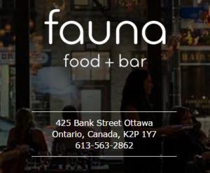 Fauna Restaurant Opens in Ottawa's Centretown